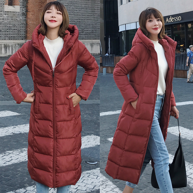 Plus Size 4XL 5XL 6XL womens Winter Jackets Hooded Stand Collar Cotton Padded Female Coat Winter Women Long Parka Warm Thicken 18