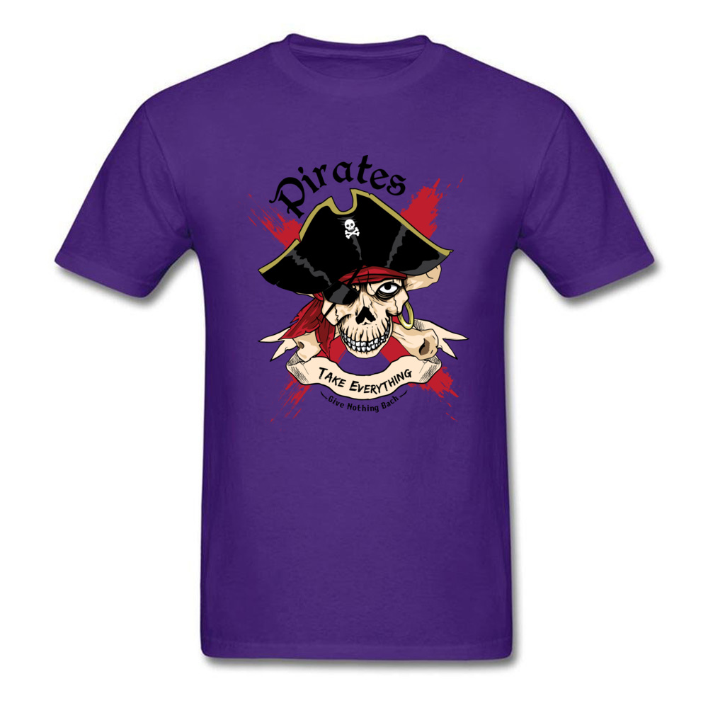 Family PIRATE Normal Short Sleeve T Shirt Lovers Day O-Neck Cotton Fabric Tops T Shirt for Boys T Shirt Casual PIRATE purple