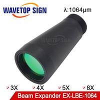 Wavetopsign 1064nm laser expansor 3x 4x 5x 8x 6x 10x feixe de entrada max 12mm saída 30mm fora dia.34mm comprimento 77mm