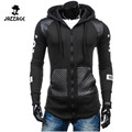 Moleton Masculino 2016 Slim Hoodies Men Sweatshirt Sweatshirt Long Sleeve Cardigan Zipper Hooded Sportswear Men'S Tracksuit 3XL