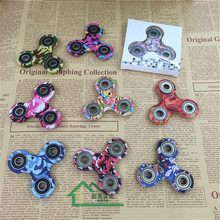 DHL 1000pcs New Tri-Spinner Fidget Toys EDC Hand Spinner multi colors Anti Stress Reliever And ADAD Fidget Spinners