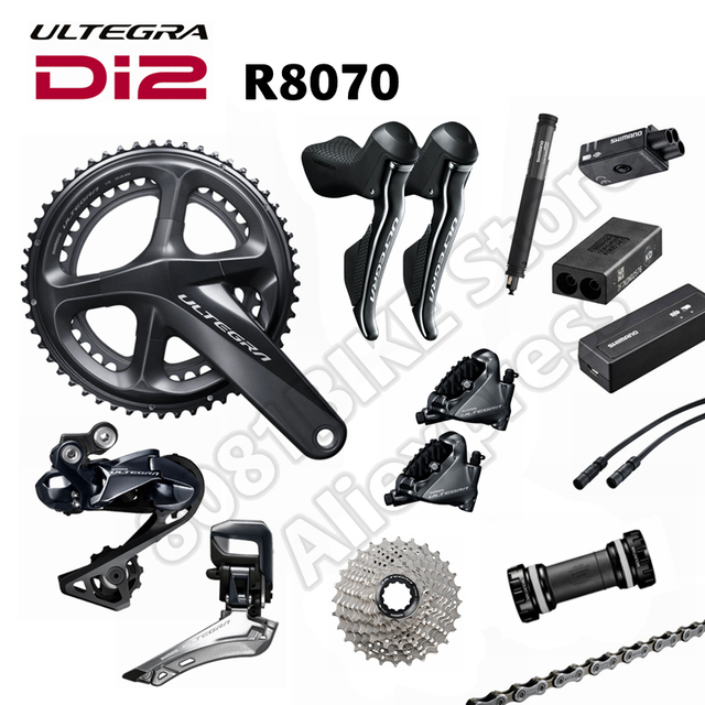 Shimano Ultegra Di2 R8070 Groupset Hydraulic Disc Brake Flat Mount 2x11 speed, R8000-in Bicycle ...