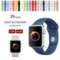 25 Colores de Silicona Banda Deporte Con Conector Adaptador Para Apple Venda de reloj Para iWatch Serie 1 Serie 2 Hebilla de Deportes pulsera