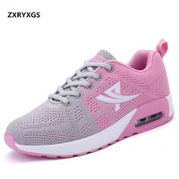 2018 Spring New Korean Mixed Colors Air Cushion Shoes Casual Sneakers Student mesh breathable Women Shoes Fashion Casual Shoes