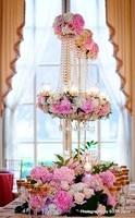 10 pcs Hotsale 90cm umbrella type silver and gold wedding flower holder , wedding decoration centerpieces,wedding flower holder