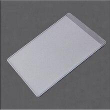 10 шт пластиковые защитные пленки для кредитных карт, пылезащитные прозрачные держатели для карт, мягкие деловые Чехлы для карт, держатели для ID 9,6x6 см