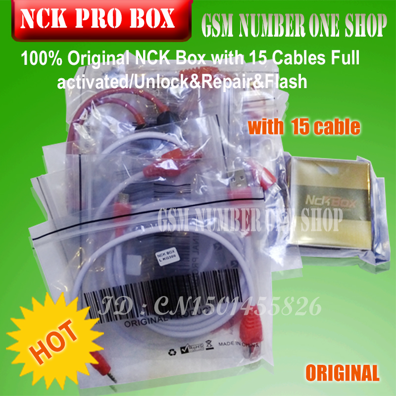 gsmjustoncct 100 Original NCK PRO BOX with 15 Cables Full activated Unlock Repair Flash free shipping