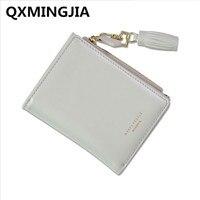 New lady wallet female short buckle multi - functional women 's wallets Solid color tassel youth purse D2037-1