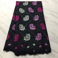 5yards African Dry Lace Fabrics High Quality Cotton Lace Fabric Swiss Voile Swiss Voile Lace In Switzerland Hsno192