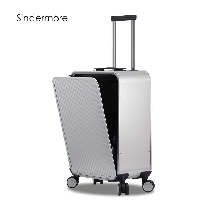 Sindermore 100% Aluminum Hardside Rolling Travel Luggage Suitcase 20 Carry On Luggage Cabin Trolley Suitcase Aluminum Suitcase sindermore aluminum luggage suitcase 20 25 29 carry on luggage hardside rolling luggage travel trolley luggage suitcase