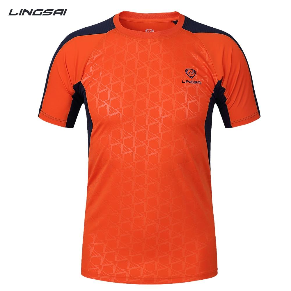 T-shirt design quick - Lingsai Brand Summer Men Soccer Jerseys T Shirt New Design Quick Dry Breathable Fitness Tees