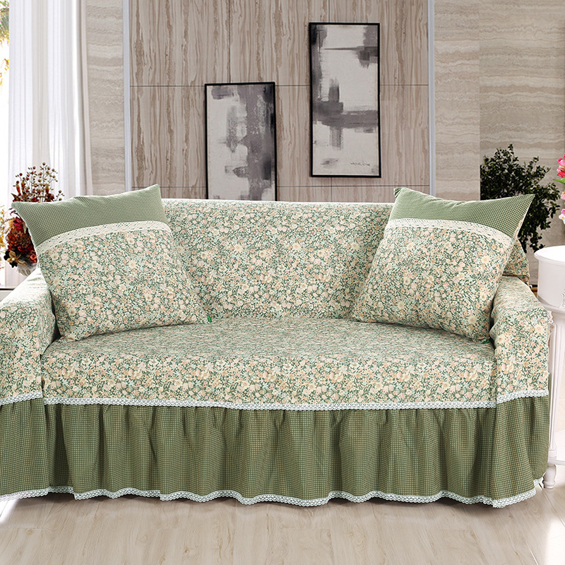 US $9.9 10% OFF|Korean Style Bamboo Cotton Linen Fabric Non Slip Sofa Towel  Sofa Cover Single/Two/Three/Four seater-in Sofa Cover from Home & Garden ...