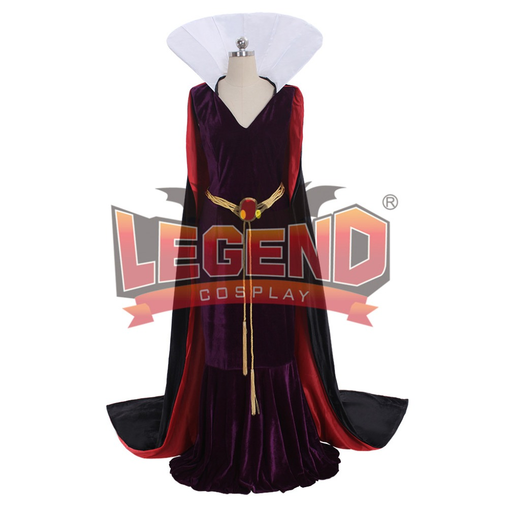 Snow White Evil Queen Dress Costume Adult Women's Halloween Carnival Cosplay Costume