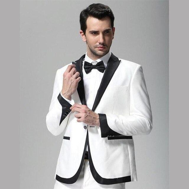 2017 white and black lapel wedding tuxedo groom men suit wear slim 2017 white and black lapel wedding tuxedo groom men suit wear slim fit man groomsmen prom junglespirit Gallery
