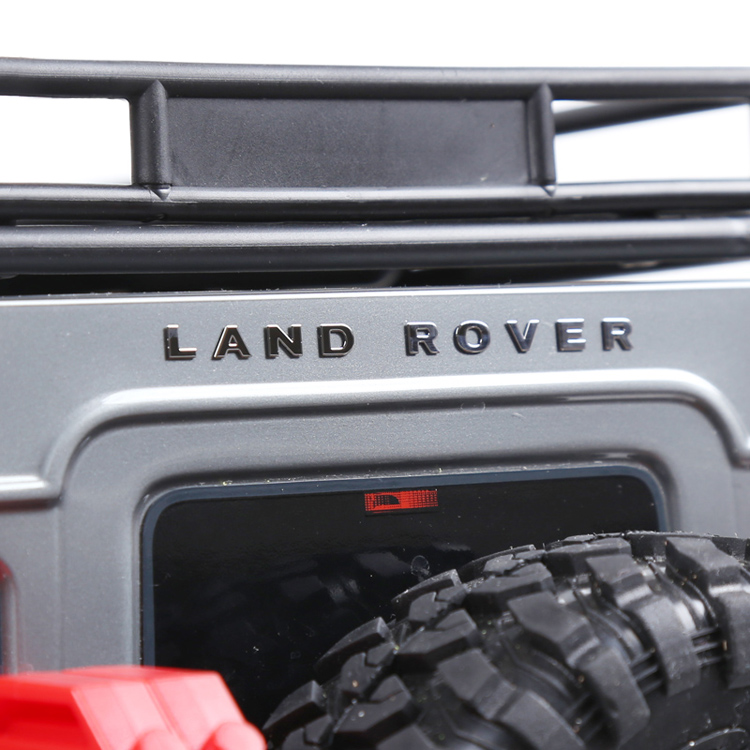 2PCS/Lot for LAND ROVER/DEFENDER Metal Logo Sticker for TRAXXAS TRX-4 D90 D110 1:8 1:10 Land-rover RC Cars Label Stickers