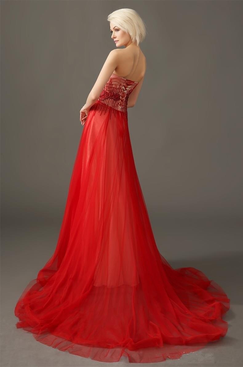 Роскошный пром возлюбленной бисером аппликации кружева-up длинные вечерние платья