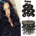 Body Wave Brazilian Virgin Hair With Frontal Body Wave Human Hair With Frontal 4 Piece Lot Brazilian Hair With Frontal Closure