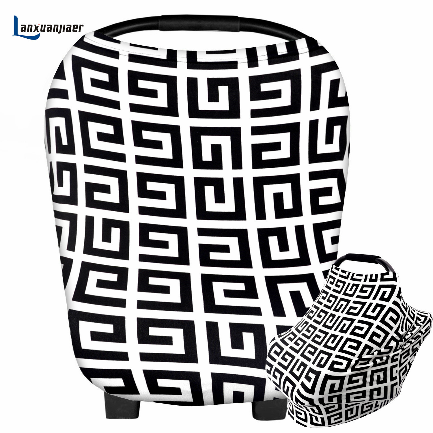 Breastfeeding Nursing Cover Scarf cotton maze pattern Baby CarSeat Canopy, Shopping Cart ...