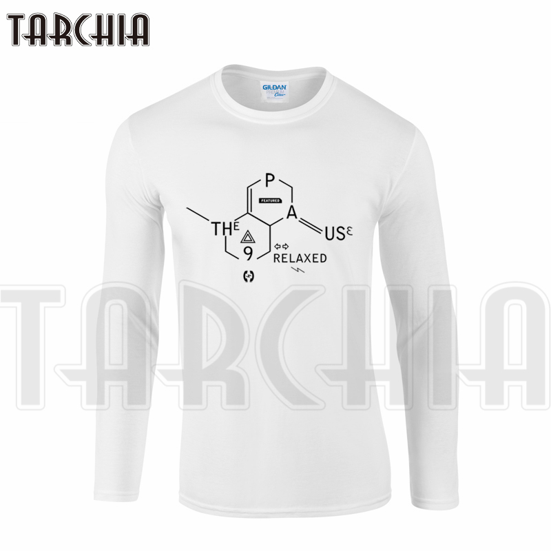 TARCHIA New Brand Fashion Men's Long Sleeve Free Shipping Homme cool T-Shirt Cotton Tee XXL Size Plus Special Print 9 Relaxed