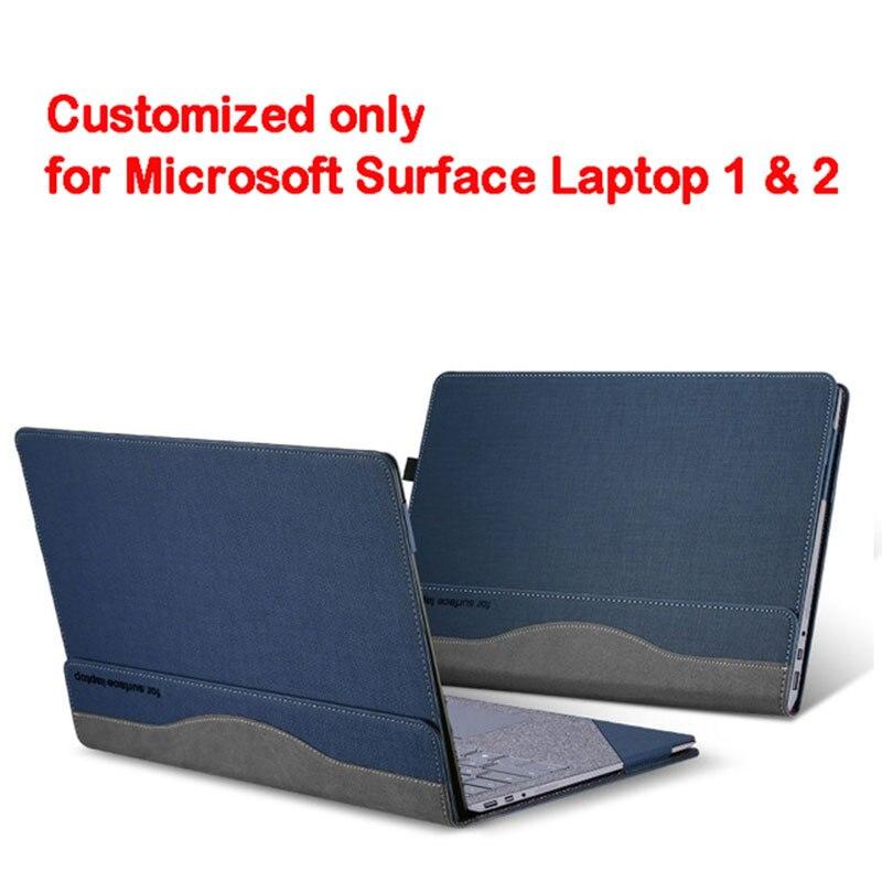 Съемный чехол для microsoft Surface Laptop 1 2 13,5 дюймов планшетный ПК ноутбук чехол Подставка для экрана клавиатура пленка ручка 2 в 1 - Цвет: blue