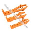 L Type Brake Fuel Line Flexible Hose Clamp Set 3pc Nylon Material