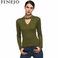 FINEJO Stylish Single Button Keyhole Shirt Women Ladies Long Sleeve Vintage Tops 2XL Plus Size Casual