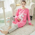 New Fashion Autumn Full Nightwear Maternity Sets For Nursing Clothes Sleepwear Pregnant Women Breastfeeding pajamas