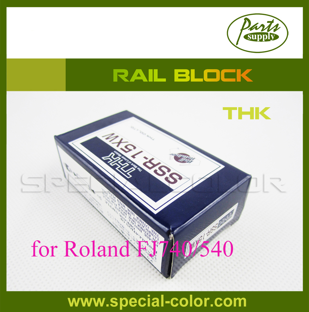 Large Format Printer Rail block THK for roland FJ740 printer 2pcs lot original from japan roland block slider thk bearing for roland fj540 fj740 vj740 ra640 vp540 sp540 sj540 sj740 printer
