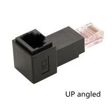 8P8C FTP STP UTP Cat 5e Male to Female Lan Ethernet Network Extension Adapter 90 Degree
