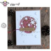 Molde de metal para artesanato de porco, forma de corte em estrela, decoração de anel, scrapbook, artesanato de papel, faca, molde, lâmina, estêncil, cortador