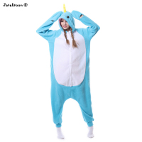 Halloween Adulte Animal Pieds Bleu Baleine Pyjamas Kigurums Onesie Narvals Cétacés Poissons Queue Cosplay Costume Pour la Fête De Noël