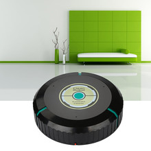 Intelligent Robotic Vacuum Cleaner Automatic Mini Sweeping Machine Household 1PC cleaner+1 pack dust paper(China)