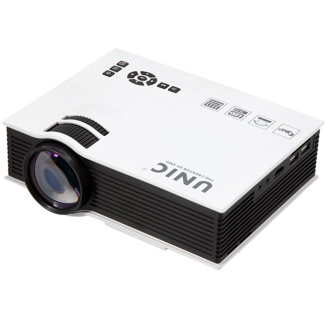 Unic UC40+ Mini Pico Portable LED Projector 3D Home Theater Multimedia Beamer Support Full HD 1080P With HDMI USB/AV/SD/VGA