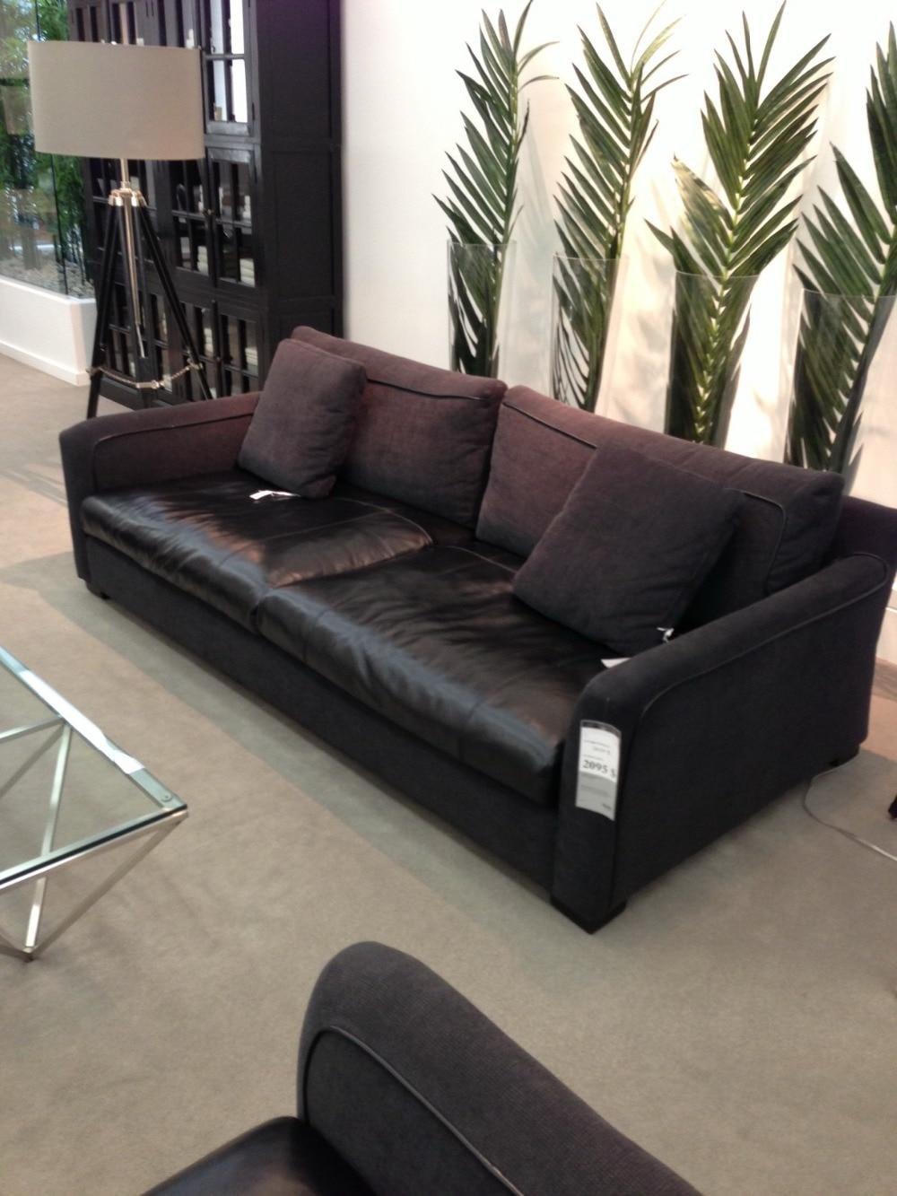 Modern Living Room Sofa 3 French Designer Genuine Leather Sofa , Sectional  Sofa Set(China