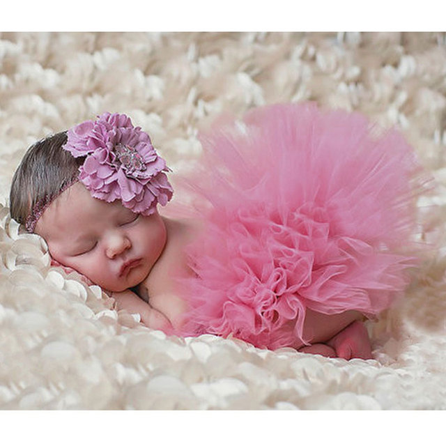 2018 baby newborn photography props photo props for baby photography accessories pink tutu skirts headband set