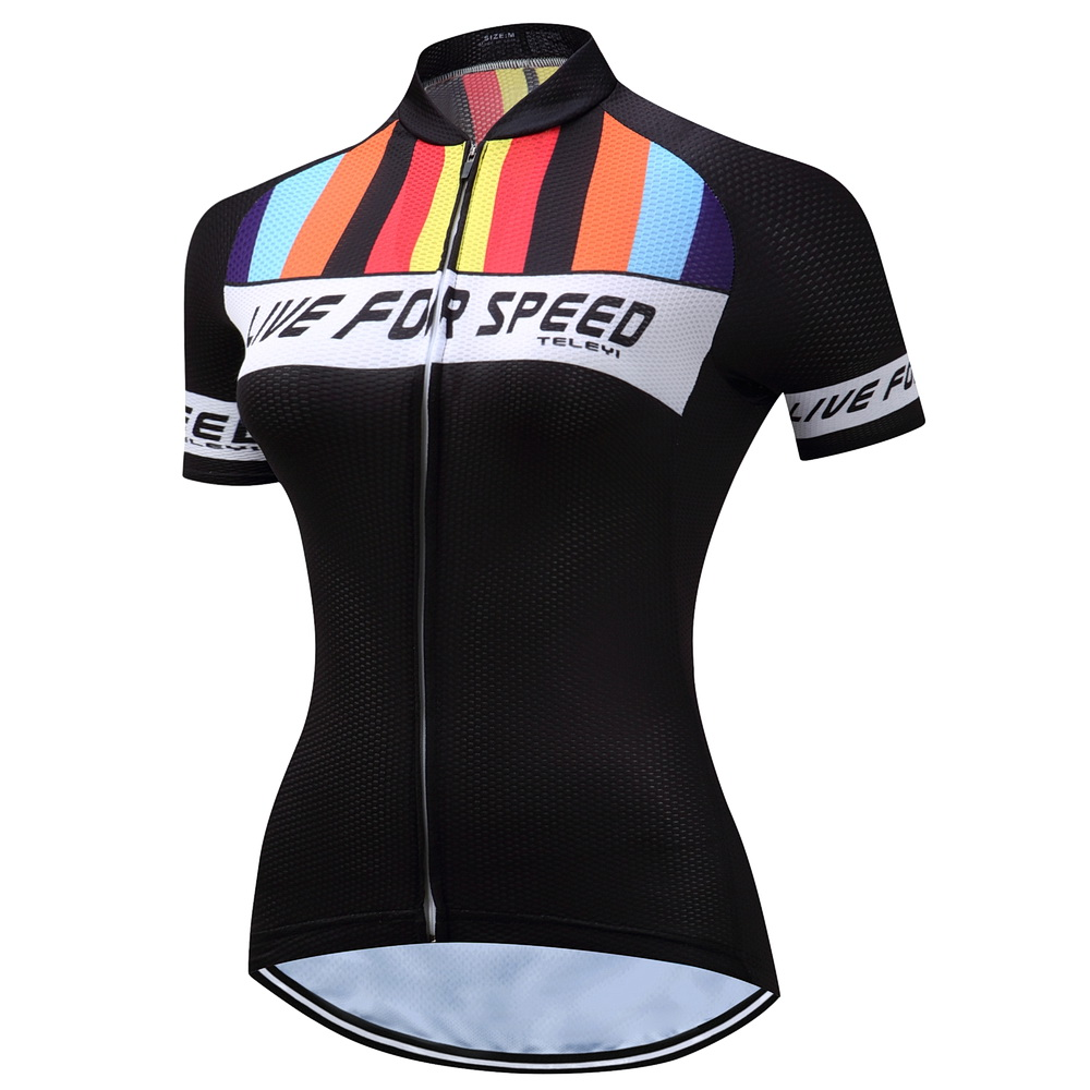 Weimostar New Beautiful Women Girls Cycling Jersey 2017 Cycling Clothing tops Maillot Ciclismo Sportwear Bike Clothes Breathable