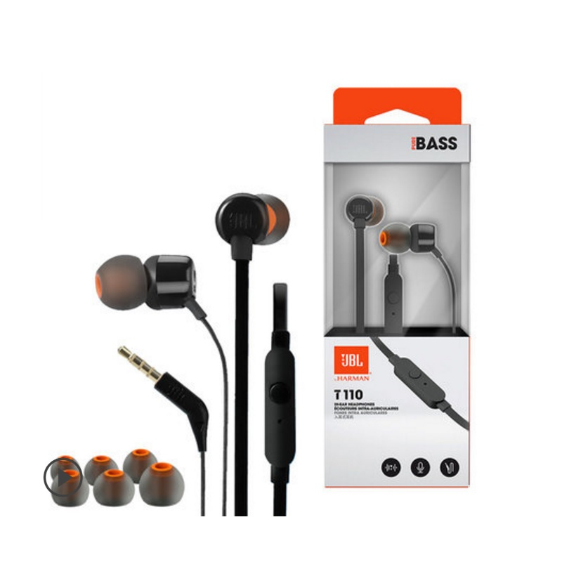 9ceb43de281 JBL T110 In ear Go Earphones Remote With Microphone Sport Music Pure Bass  Sound Headset For leagoo s9 iPhone Smartphone Portable-in Phone Earphones  ...