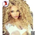 Блондинка Парик 150% Dnesity Бразильские Волосы Вьющимися Парик С Волосами Младенца Для Черные Женщины Glueless Девы Человеческих Волос