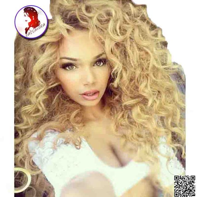 Blonde Full Lace Wig 150% Dnesity Brazilian Hair Wig Curly With Baby Hair For Black Woman Glueless Virgin Human Hair