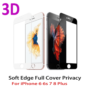 3D zakrzywiona krawędź Pełna osłona ekranu Protector dla iPhone 7 6S 8 szkło hartowane na iPhone 6 s 7 8 plus szkło ochronne film tanie i dobre opinie Telefon komórkowy Łatwa instalacja Ultra cienka odporna na zarysowania iPhone 6 Plus iPhone 7 iPhone 6s iPhone 8 iPhone 7 Plus iPhone 6s Plus iPhone 6 iPhone 8 plus