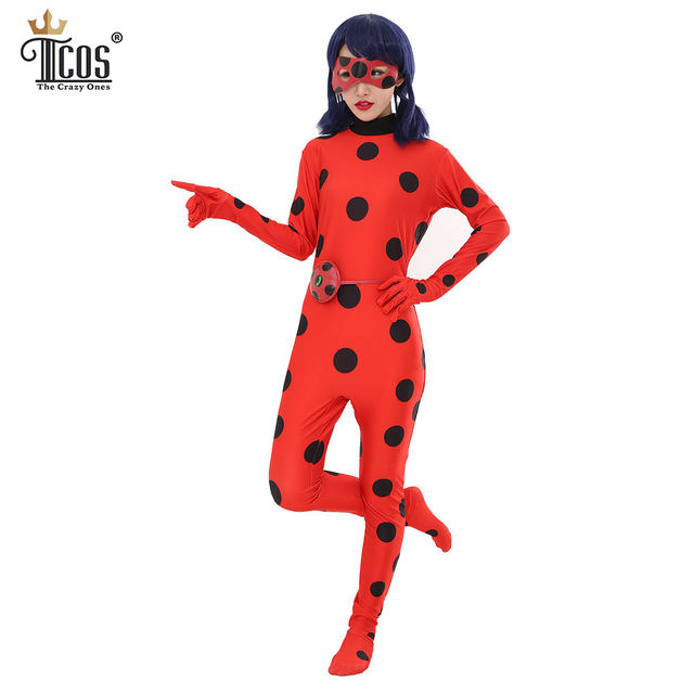 lady bug halloween costume woman miraculous disfraz ladybug infantil cosplay costumes marinette carnival birthday party bodysuit