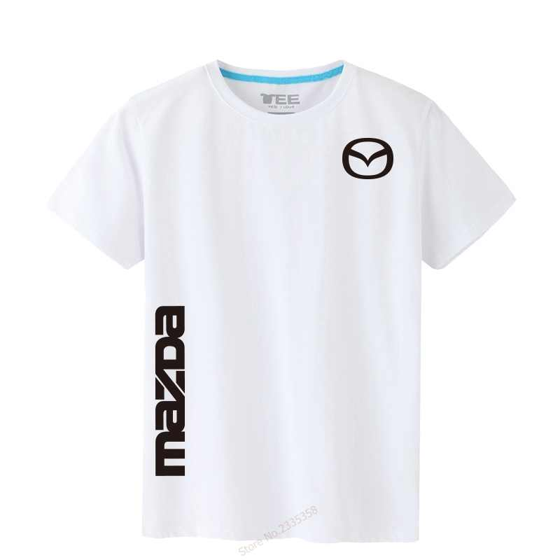 2019 販売男性のトップス & Tシャツ夏マツダ Tシャツ男性の綿無地半袖 tシャツ