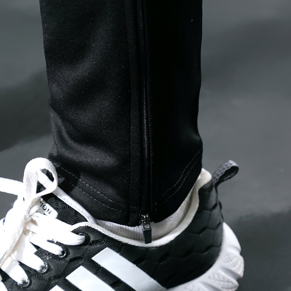 BINTUOSHI Football Soccer Training Pants Men With Zipper Pocket Jogging Trousers Fitness Workout Running Sport Pants