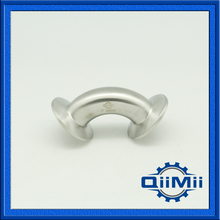 """SS304 Stainless Steel Sanitary 1.5"""" Tri Clamp 90 Degree Elbow Pipe Fitting For Homebrew Diary Product"""