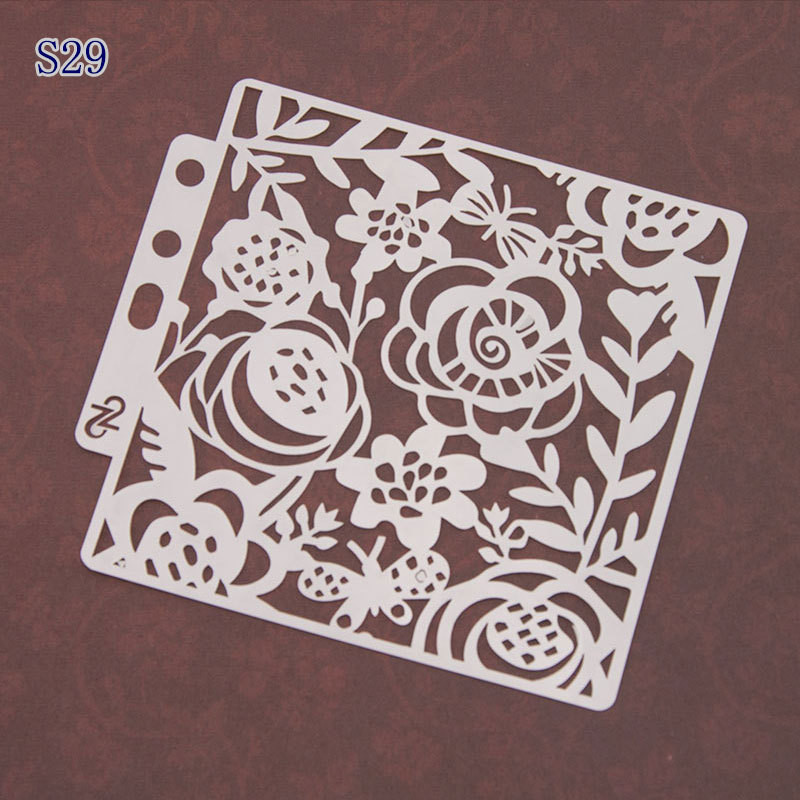 1Pc Plastic Stencils Template Mould Wall Painting Scrapbooking Stamping DIY Stamp Album Decorative Embossing Paper Card Craft