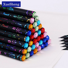 6PCS/Set DIY Pencil HB Diamond Printing Color Pencil Stationery Items Drawing Supplies Cute Pencils School Office Stationery 2018 minecraft toys peripheral kit student stationery hb pencil diamond sword gift