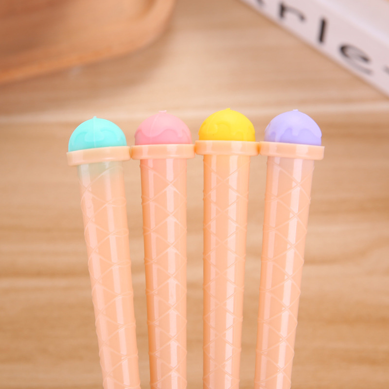 Korean Creative Ice Cream Gel Pen Cute Candy Kids Funny Stationery Store Escritorio Stationary School Tool Material Item Shop