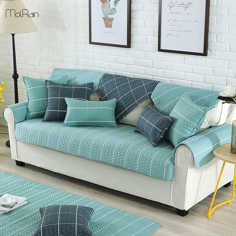 1/2/3/4 Seat Sofa Couch Cover Cotton Polyester Anti Slip ...