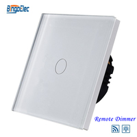 1gang 1way Remote Dimmer Touch Wall Switch Glass Panel Light Switch EU UK Standard AC110 240V