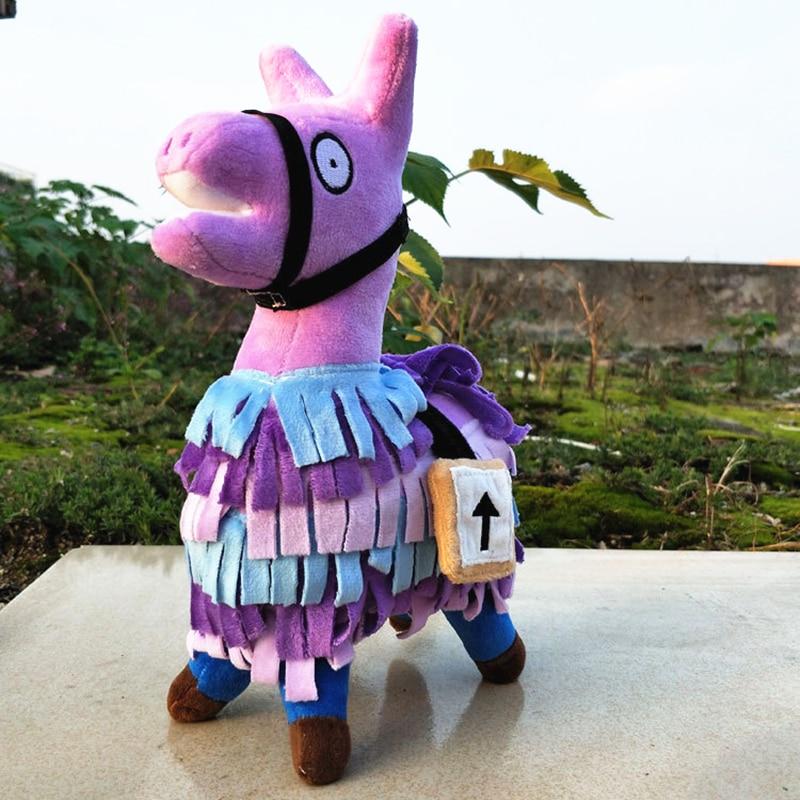 MIAOOWA 1PC 25/35CM Kawaii Fortnite Troll Stash Llama Plush Toy Hot Game Soft Alpaca Rainbow Horse Dolls Toys Kids Birthday Gift